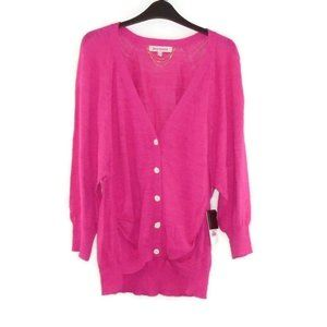 Juicy Couture NWT Womens Cardigan Sweater Pink L